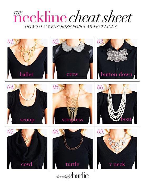 neckline cheatsheet