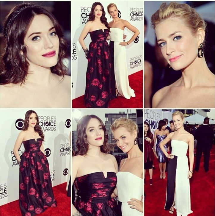 Kat Dennings and Beth Berhs HostThe 40th Annual People's Choice Awards 2014