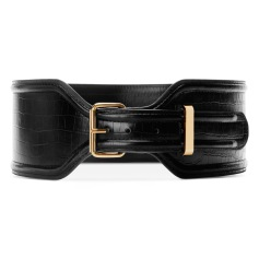 Croc Effect Belt Black