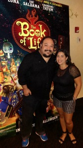 """The Book Of Life"" Director Jorge R. Gutierrez with  Janet Aldana-Eltaktouk of Outersparkle.com"