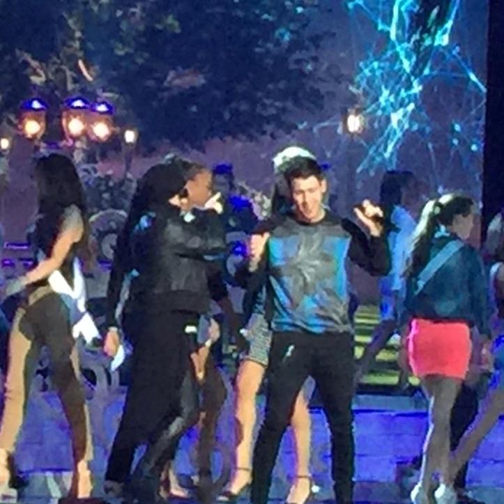Nick Jonas Miss Universe rehearsal