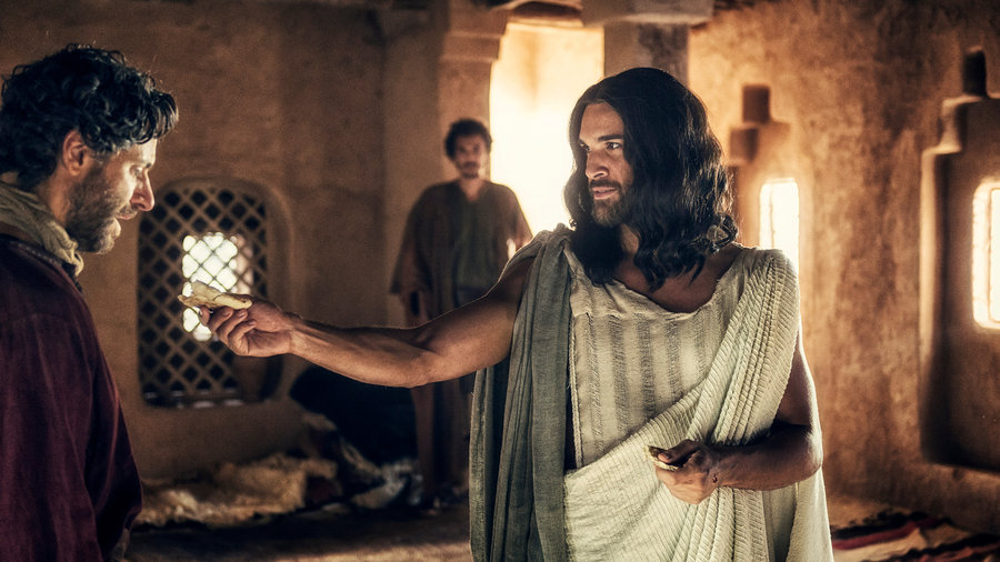 """A.D. THE BIBLE CONTINUES -- """"The Body Is Gone"""" Episode 102 -- Pictured: Juan Pablo di Pace as Jesus"""