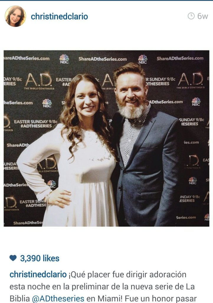 Christine D'Clario with Mark Burnett