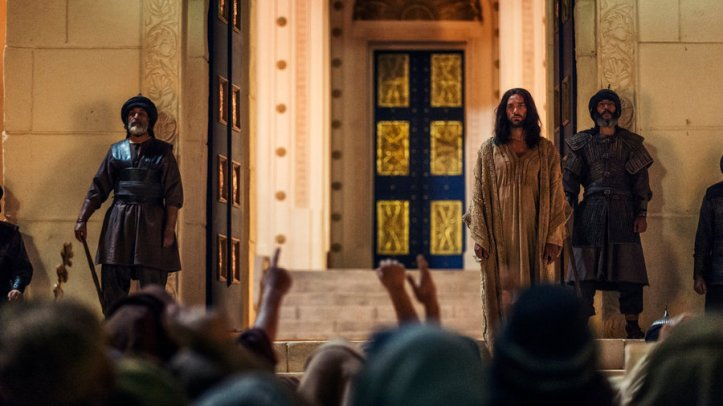 "A.D. THE BIBLE CONTINUES -- ""The Tomb Is Open"" Episode 101 -- Pictured: Juan Pablo di Pace as Jesus"