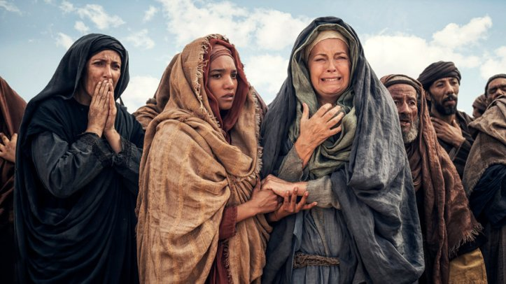 "A.D. THE BIBLE CONTINUES -- ""The Tomb Is Open"" Episode 101 -- Pictured: (l-r) Chipo Chung as Mary Magdalene, Greta Scacchi as Mother Mary"