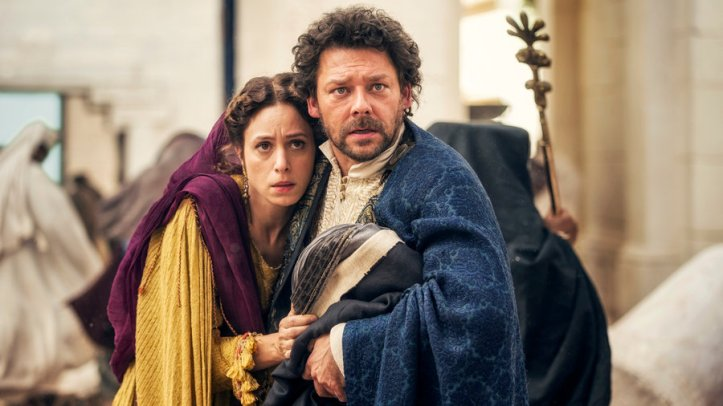 "A.D. -- ""TBD"" Episode 101 -- Pictured: (l-r) Jodi May as Leah, Richard Coyle as Caiaphas"
